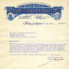 Cartas comerciales: ANTIGUA CARTA JOSÉ HERNÁNDEZ GIL, MOLINA DE SEGURA 1932. Lote 147448064
