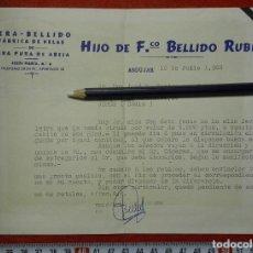 Cartas comerciales: CERA BELLIDO CARTA COMERCIAL ANDUJAR 1968. Lote 121514847