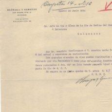 Cartas comerciales: OLÒZAGA Y GIMENEZ MADRID, OFERTA COMERCIAL 1914. Lote 121720199
