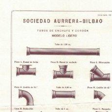 Cartas comerciales: SOCIEDAD AURRERA, HOJA DE PROPAGANDA. Lote 121720755