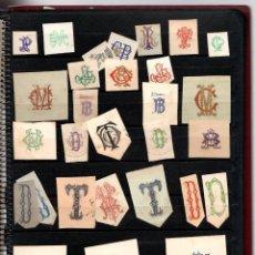 Cartas comerciales: COLECCION ANTIGUA DE MEMBRETES DE SOBRES Y CARTAS, SELLOS DE TINTA Y VIÑETAS INFANTILES. SIGLO XIX. Lote 122642675