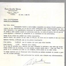 Cartas comerciales: CARTA COMERCIAL. RAMON GONZALEZ IGLESIAS. REPRESENTACIONES. VITORIA. 1964. Lote 125873355