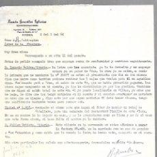 Cartas comerciales: CARTA COMERCIAL. RAMON GONZALEZ IGLESIAS. REPRESENTACIONES. VITORIA. 1964. Lote 125873403