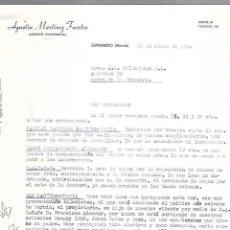 Cartas comerciales: CARTA COMERCIAL. AGUSTIN MARTINEZ FUERTES. AGENTE COMERCIAL. ESPINARDO. MURCIA. 1964. Lote 125873523