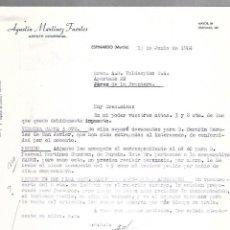 Cartas comerciales: CARTA COMERCIAL. AGUSTIN MARTINEZ FUERTES. AGENTE COMERCIAL. ESPINARDO. MURCIA. 1964. Lote 125873535
