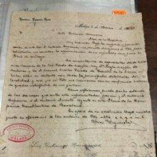 Cartas comerciales: DOCUMENTO CARTA COMERCIAL AÑO 1902 - FRANCISCO FIGUEROLA RIERA - ANTONIO CAPARROS - MALAGA. Lote 126999107