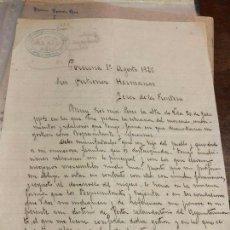 Cartas comerciales: ANTIGUO DOCUMENTO CARTA COMERCIAL PORCUNA - AÑO 1925 JEREZ DE LA FRONTERA. Lote 127113299