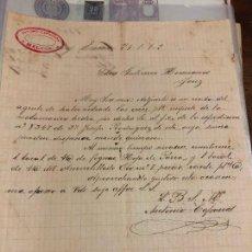 Cartas comerciales: CARTA COMERCIAL ANTONIO CAPARROS DE MALAGA A SR. GUTIERREZ HERMANOS DE JEREZ DE LA FRONTERA AÑO 1902. Lote 127135403