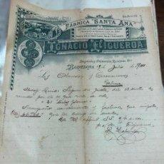 Lettere commerciali: CARTA COMERCIAL FABRICA SANTA ANA - BARCELONA AÑO 1900. Lote 127141255