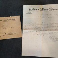 Cartas comerciales: CARTA-TELEGRAMAS 1892, COMUNICANDO LA CROMPRA DE ALMENDRAS, REUS. Lote 128036119