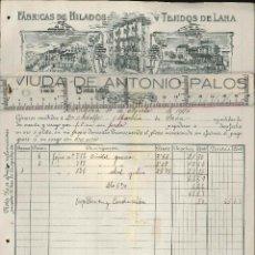 Cartas comerciales: FABRICA DE HILOS Y TEJIDOS DE LANA, ZARAGOZA, 1916. Lote 214236442