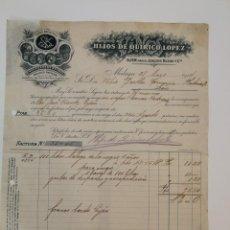 Cartas comerciales: HIJOS DE QUIRICO LOPEZ. Lote 130228394