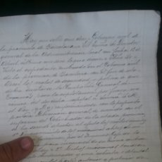 Cartas comerciales: DOCUMENTO DEL AÑO 1881 DE LOS TRANVÍAS DE CATALUÑA. Lote 130822991