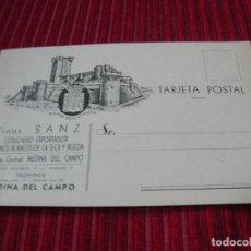Cartas comerciales: TARJETA POSTAL ANUNCIANDO VINOS SANZ.MEDINA DEL CAMPO.ANTIGUA.. Lote 131226755