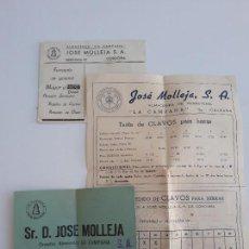 Cartas comerciales: CARTA PUBLICITARIA ALMACENES LA CAMPANA JOSE MOLLEJA S A. CORDOBA. Lote 134277458
