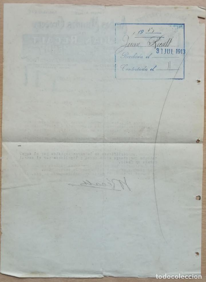 Cartas comerciales: JUAN REGALT, HABANA, 1913 - Foto 2 - 134369002