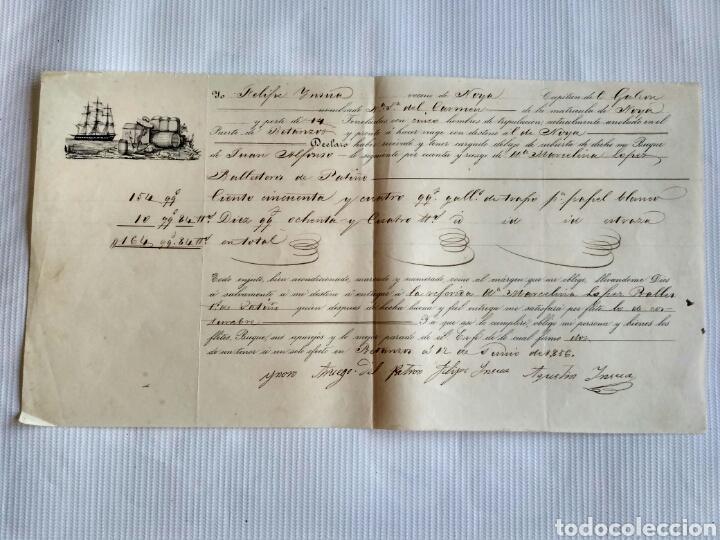 HOJA DE EMBARQUE DE BETANZOS A NOIA, AÑO 1856. GALICIA, LA CORUÑA. (Coleccionismo - Documentos - Cartas Comerciales)