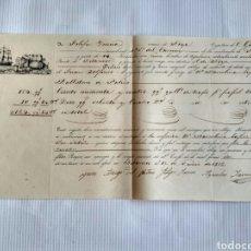 Cartas comerciales: HOJA DE EMBARQUE DE BETANZOS A NOIA, AÑO 1856. GALICIA, LA CORUÑA.. Lote 134546115