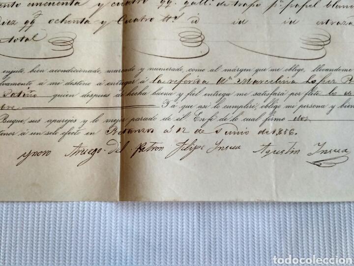 Cartas comerciales: Hoja de embarque de Betanzos a Noia, año 1856. Galicia, La Coruña. - Foto 4 - 134546115