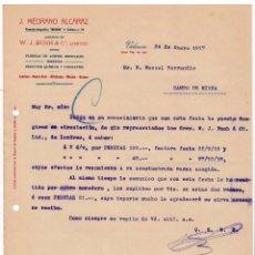 Cartas comerciales: FÁBRICA ACEITES. PRODUCTOS QUÍMICOS Y COLORANTES. VALENCIA, 1917. Lote 135726211