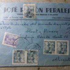 Cartas comerciales: CORREOS CERTIFICADO.VALORES DECLARADOS. Lote 136130978