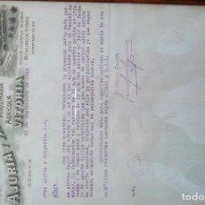 Cartas comerciales: AJURIA Y ARANZABAL(S.A.)- DOCUMENTO/CARTA COMERCIAL ORIGINAL(AÑO 1922). Lote 136354778