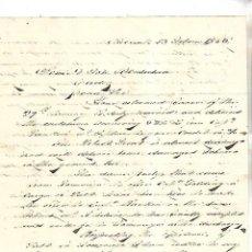 Cartas comerciales: CARTA COMERCIAL. JAMES RAYMUNDO. ALICANTE. 1856. VER DORSO. Lote 137279670