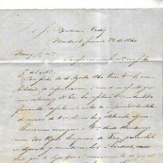 Cartas comerciales: CARTA COMERCIAL. BARRINGTON Y CIA. 1861. MADRID VER DORSO. Lote 137280214