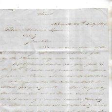 Cartas comerciales: CARTA COMERCIAL. JAMES RAYMUNDO. 1854. ALICANTE. VER DORSO. Lote 137281030