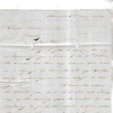 Cartas comerciales: CARTA COMERCIAL. JAMES RAYMUNDO. 1854. ALICANTE. VER DORSO. Lote 137281286