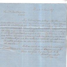 Cartas comerciales: CARTA COMERCIAL. J. LEON RAYMUNDO Y CIA. 1864. ALICANTE. VER DORSO. Lote 137281390
