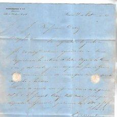 Cartas comerciales: CARTA COMERCIAL. BARRINGTON Y CIA. 1861. MADRID. VER DORSO. Lote 137281478