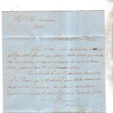 Cartas comerciales: CARTA COMERCIAL. M. GAZTELU E IRIARTE. 1861. PUERTO DE SANTA MARIA. VER . Lote 137281618