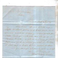 Cartas comerciales: CARTA COMERCIAL. M. GAZTELU. 1861. PUERTO DE SANTA MARIA. VER . Lote 137281722