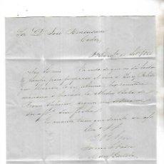 Cartas comerciales: CARTA COMERCIAL. M. GAZTELU E IRIARTE. 1855. PUERTO DE SANTA MARIA. VER . Lote 137281770
