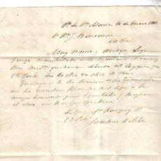 Cartas comerciales: CARTA COMERCIAL. FAUSTINO DE ARBE. 1861. PUERTO DE SANTA MARIA. VER. Lote 137281842