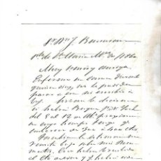 Cartas comerciales: CARTA COMERCIAL. FAUSTINO DE ARBE. 1860. PUERTO DE SANTA MARIA. VER. Lote 137281898