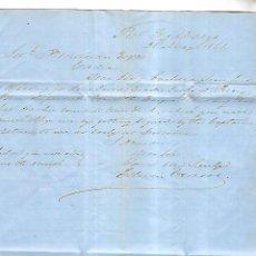 Cartas comerciales: CARTA COMERCIAL. EDWIN CRUSOE. 1861. PUERTO DE SANTA MARIA. VER DORSO. Lote 137282014