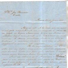 Cartas comerciales: CARTA COMERCIAL. J. LEON RAYMUNDO Y CIA. 1860. ALICANTE. VER DORSO. Lote 137282426