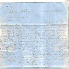 Cartas comerciales: CARTA COMERCIAL. C.S.WHETTEM. 1861. ALICANTE. VER DORSO. Lote 137282538