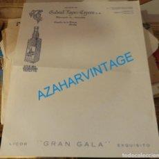 Cartas comerciales: CAZALLA DE LA SIERRA, ANTIGUA CARTA COMERCIAL GABRIEL LOPEZ-CEPERO, ANIS IDEAL. Lote 137329502
