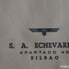 Cartas comerciales: SOBRES DE LA ANTIGUA FABRICA ECHEVARRIA (ETXEBARRIA) S.A. DE BILBAO. AÑOS 70. Lote 137576218
