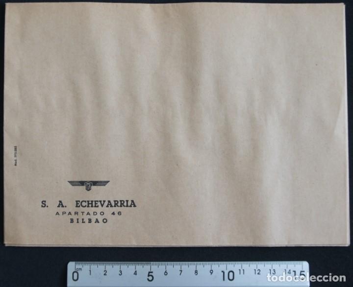 Cartas comerciales: Sobres de la antigua fabrica Echevarria (Etxebarria) S.A. de Bilbao. Años 70 - Foto 4 - 137576218