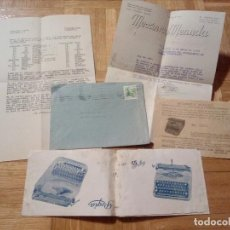 Cartas comerciales: LOTE PUBLICIDAD -MECANICA MENUDA- 1953.VALLADOLID.(MAQUINAS DE ESCRIBIR,ETC). Lote 139027926