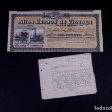 Cartas comerciales: CARTA DEL DUQUE DE MONTORO AL MARQUÉS DE TRIANO PRES. DE A. HORNOS DE VIZCAYA Y ACCIÓN 1952. Lote 139316262