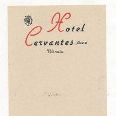 Cartas comerciales: CARTA MENU. HOTEL CERVANES. LINARES. PUBLICIDAD VINOS VALDEPEÑAS ANGEL PINTADO CARTAMENU-021,2. Lote 139386118