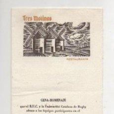 Cartas comerciales: CARTA MENU. YANTAR OFRECIDO POR LA ORDEN DE CABALLEROS DE DON QUIJOTE. AÑO 1969 CARTAMENU-104. Lote 222703370