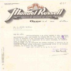 Cartas comerciales: FACTURA ANTIGUA DE OLOT FABRICA GENEROS DE PUNTO 1936. Lote 140507986