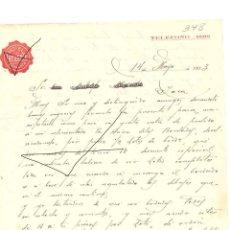 Cartas comerciales: FACTURA ANTIGUA DEL AÑO 1933 HOTEL LAFUENTE DE ZARAGOZA . Lote 140509222