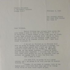 Cartas comerciales: CHARLES CRICHTON SIGNED LETTER ,1963. Lote 141140254
